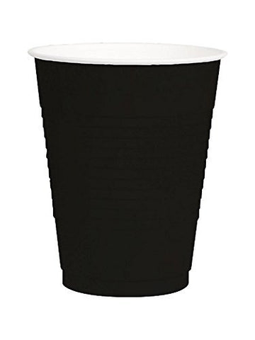 Amscan Big Party Pack Black 12 oz Plastic Cup