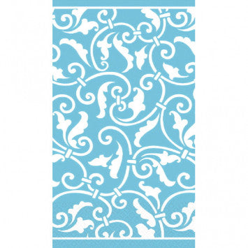 Ornamental Scroll Carribbean Guest Towels