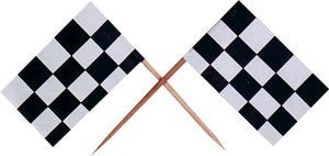 Checkered Racing Flag Pick - 144 Count