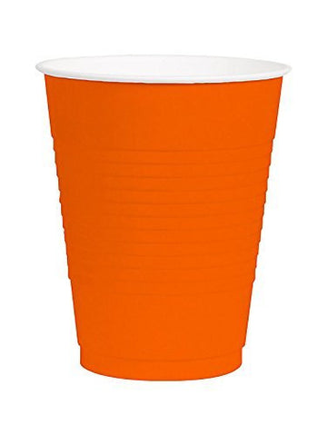Amscan Big Party Pack 12 oz Orange Plastic Cups - 50 count