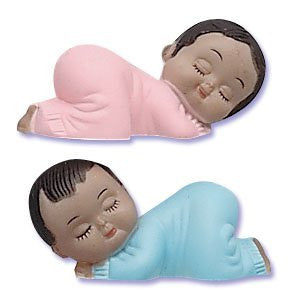SLEEPING BABIES PINK & BLUE - AA TOPPERS