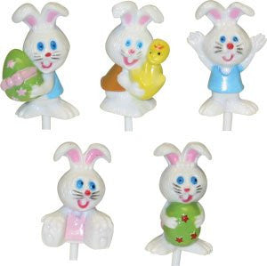"Easter Bunny 3D Happy Picks Asst - 2-1/2"" - 48 / Box"