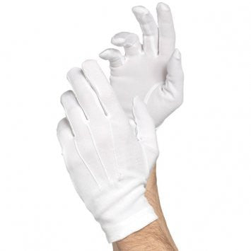 White Cotton Santa Gloves