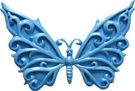 Filigree Butterfly Silicone Mold - 1 Piece