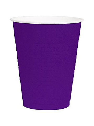 Amscan Big Party Pack New Purple 12 oz Plastic Cups