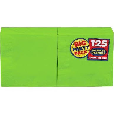 Amscan Big Party Pack Kiwi Beverage Napkins