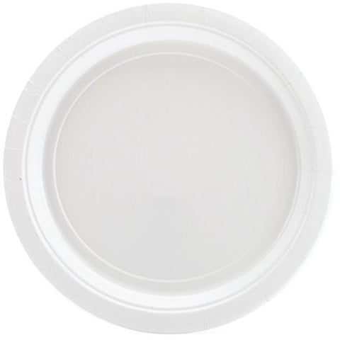 Amscan Big Party Pack White Paper Dessert Plates