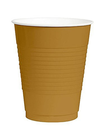 Amscan Big Party Pack Gold 12 oz Plastic Cups