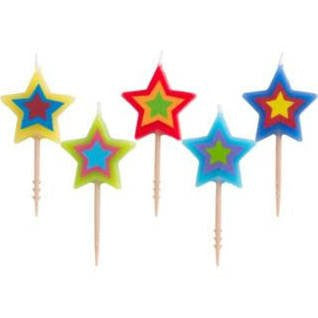 Star Toothpick Candles