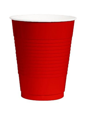 Amscan Big Party Pack Red 12 oz Plastic Cup