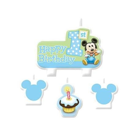 Mickey 1st Birthday Candles