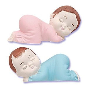 SLEEPING BABIES PINK & BLUE TOPPERS
