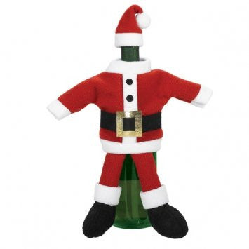 Santa Suit Wine Bottle Cover