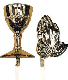 Chalice, Host, & Praying Hands Picks - 48 Count