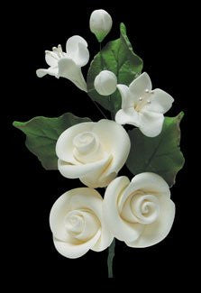 Camellia Buds Spray - White 6 Count