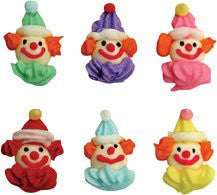 Clown Faces Mini Royal Icing Asst