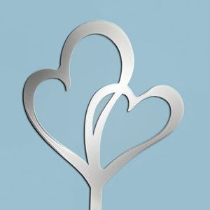 MIRROR DOUBLE HEARTS TOPPER