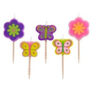 Flower & Butterfly Toothpick Candles