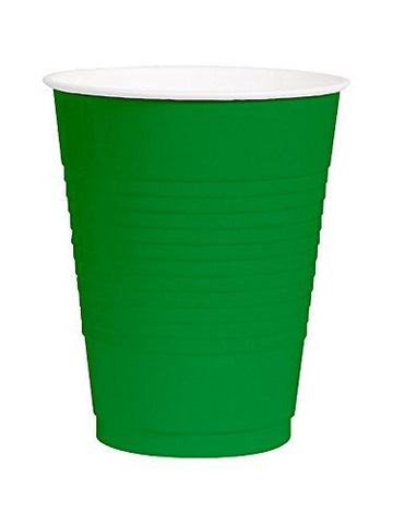 Amscan Big Party Pack Green 12 oz Plastic Cups