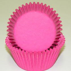 Bake Cups - Solid Hot Pink - Cupcake