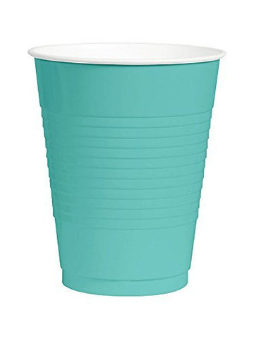 Amscan Big Party Pack Robin's Egg Blue 12 oz Plastic Cups
