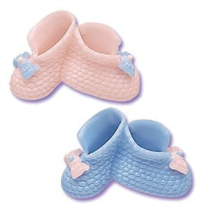 DOUBLE BABY BOOTIE PINK AND BLUE TOPPERS
