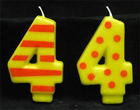 Crazy Number Candles #4 12 Count