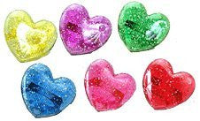 Heart Glitter Rings - 144 Count