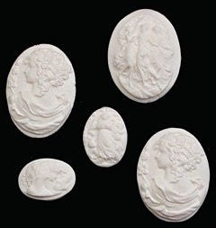 Cameos - Assorted Sizes - White