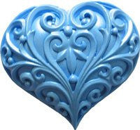 Filigree Heart Silicone Mold - 1 Piece
