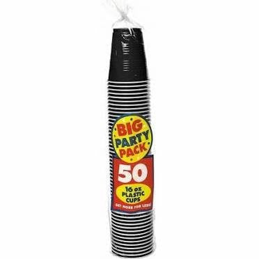 Amscan Big Party Pack Black 16 oz Plastic Cups