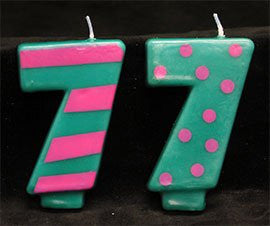 Crazy Number Candles- # 7  12 Count