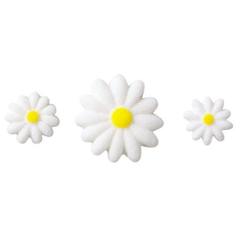 Daisies White Asst Dec-Ons? Sugar Decorations (14107)