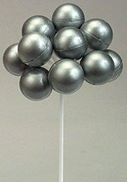 Silver Balloon Clusters - 36 Count