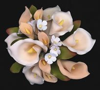 Calla Lily Topper Bouquet - Ivory