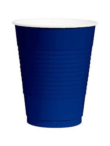 Amscan Big Party Pack Bright Royal Blue 12 oz Plastic Cups