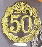 50th Anniversary Gold Wreath w/ Base - 12 Count