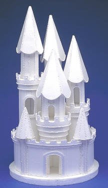 Castle #8 Lighted! - White 1 Count