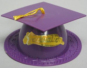 Graduation Hat - Purple  -24 / Box