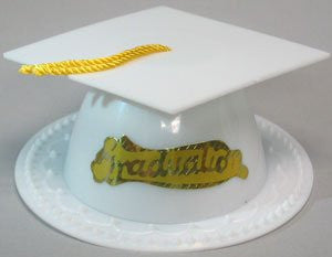 Graduation Hat - White  -24/Box