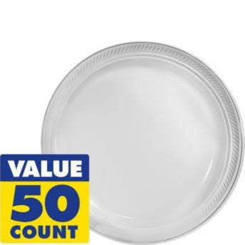 Amscan Big Party Pack Clear Plastic Lunch Plates
