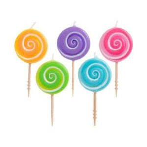 Lollipop Toothpick Candles