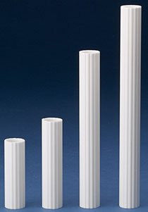 "Coast Columns - Stacked Cake Tubes  - 3"",12 pcs - Single Plate System, SPS"