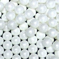 Candy Beads- 2 Lb Pearl White