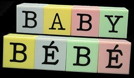 Baby/Bebe Blocks - New Design! 12 Sets