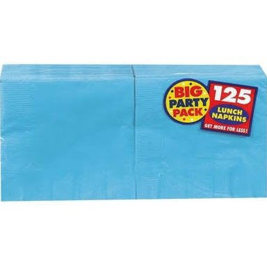 Amscan Big Party Pack Caribbean Blue Luncheon Napkins