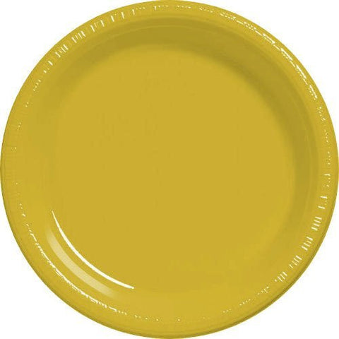 Amscan Big Party Pack Sunshine Yellow Plastic Dessert Plates