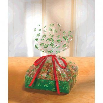 Large Holly Treat Tray w/ Cello Bag