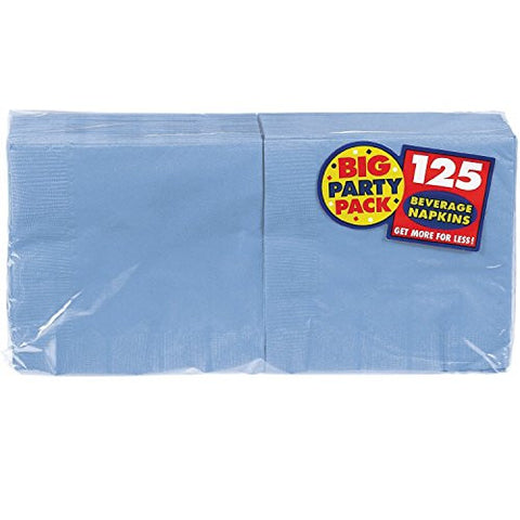 Amscan Big Party Pack Pastel Blue Beverage Napkins