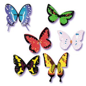 BUTTERFLY ADORNMENTS ASSORTED